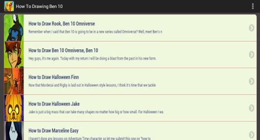 【免費程式庫與試用程式App】How To Draw Ben 10 Omniverse-APP點子