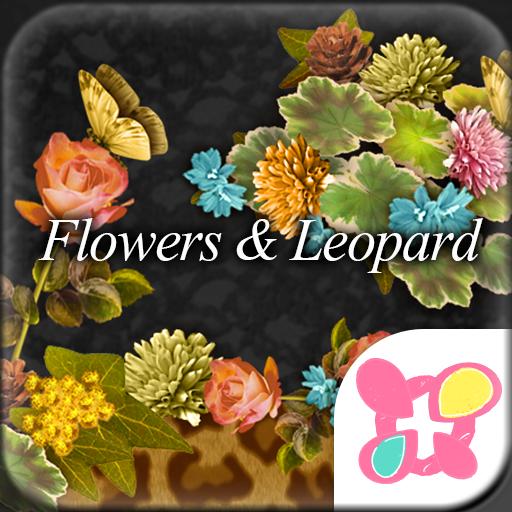 个人化の★きせかえ無料★Leopard & Flower LOGO-記事Game