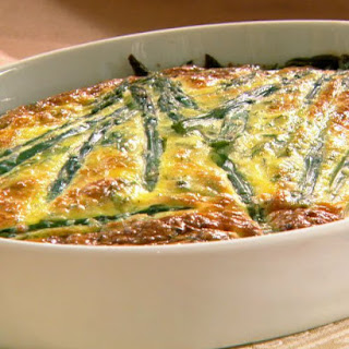 Easter Frittata with Asparagus, Goat Cheese, and Spring Herbs.