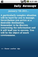 Screenshot of Daily Horoscope - Virgo
