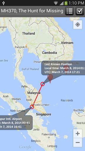 MH370 搜寻失联飞机