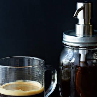 Homemade Vanilla Coffee Syrup.