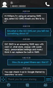 GO SMS Pro Icecream Theme - screenshot thumbnail