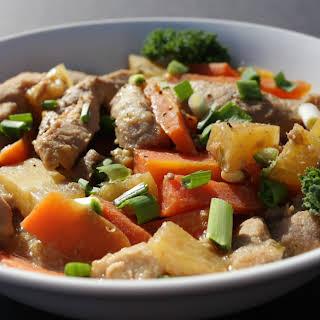 Crock Pot Asian Pineapple pork.