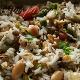 Fried Jasmine Rice with Vegetables.