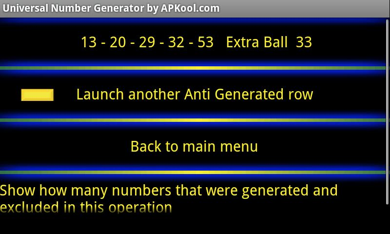 Universal Number Generator Pro - screenshot
