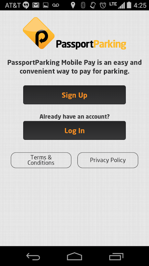 PassportParking Mobile Pay- screenshot