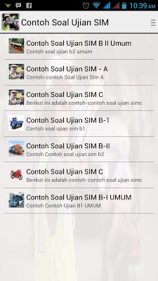 Contoh Soal Ujian SIM - screenshot