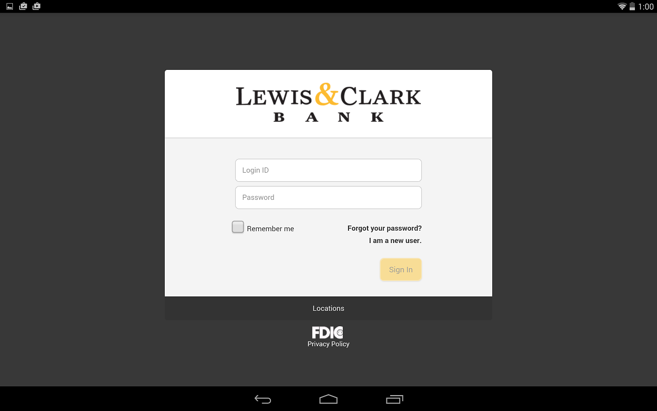 Lewis & Clark Mobile Banking - screenshot