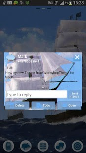 GO SMS Pro Theme Sea Ship- screenshot thumbnail