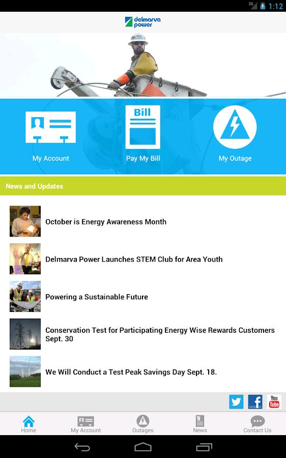 Delmarva Power Self-Service - screenshot