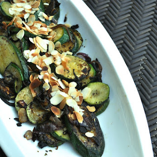 Sautéed Zucchini With Dried Basil And Almonds