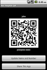 Bar Napkin QR Code screenshot 0