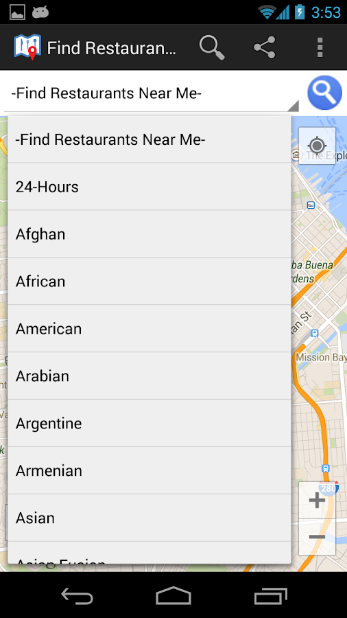 The iPhone and Android apps leverage Google's growing database of restaurant information and user-submitted information to help you find restaurants, coffee shops, bars, and other destinations.