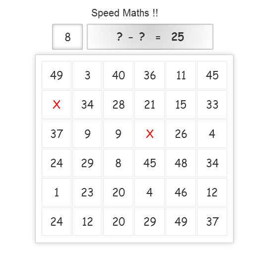 Speed Maths