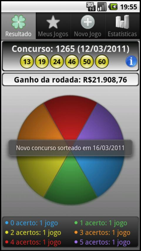 Loterias Mobile Megasena - screenshot