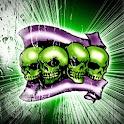 Green Skulls theme 480×800 logo