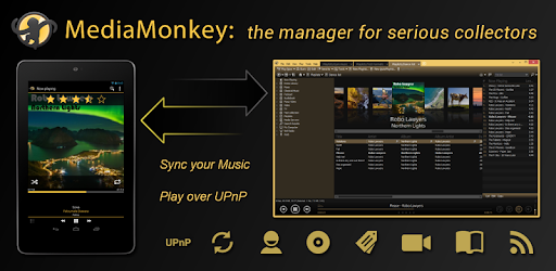 A media player for serious collectors that syncs between your device and PC.