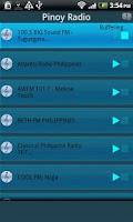 Screenshot of Pinoy Radio