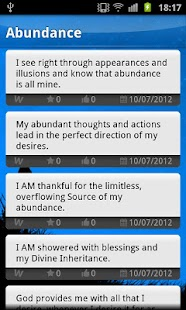 Affirmations positive thinking - screenshot thumbnail