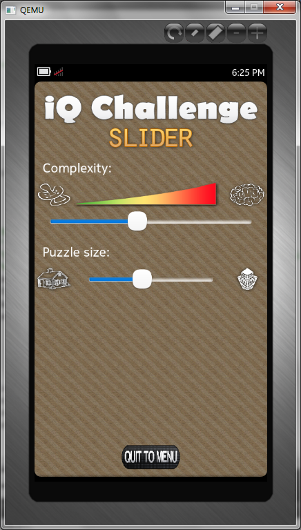 iQ Challenge: Slider - screenshot