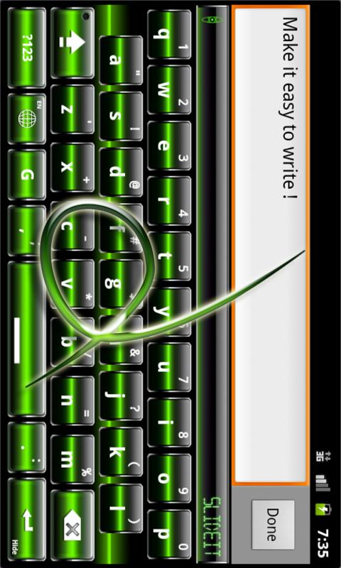 SlideIT Green Digital Skin- screenshot