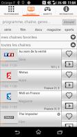 Screenshot of TVcommande d'Orange