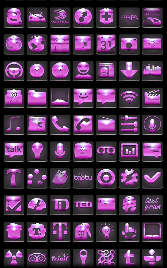 Icon Pack - Future Pink - screenshot