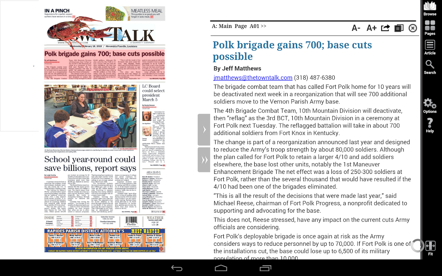 The Town Talk Print Edition- screenshot