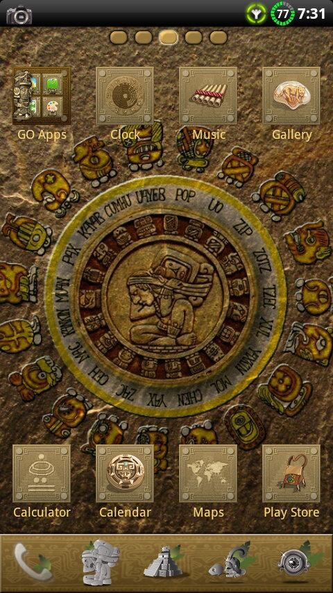 MAYAN GO Launcher EX Theme - screenshot