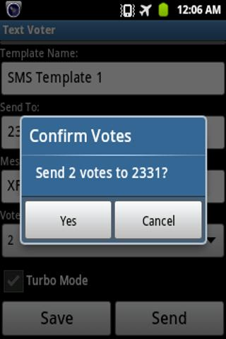 Text Voter- screenshot