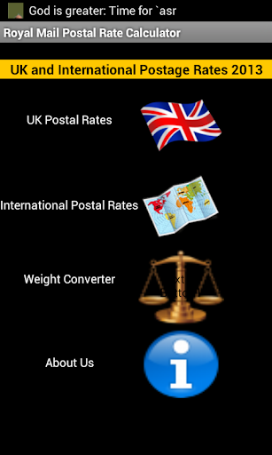 UK Postal Calc for Royal Mail