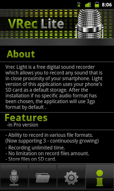 VRec Lite - Voice Recorder - screenshot