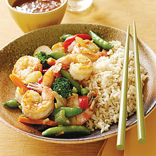 Shrimp and Vegetable Stir-Fry.
