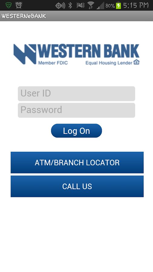 Western Bank Mobile Banking - screenshot