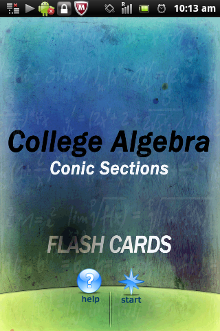 Algebra Conic Sections