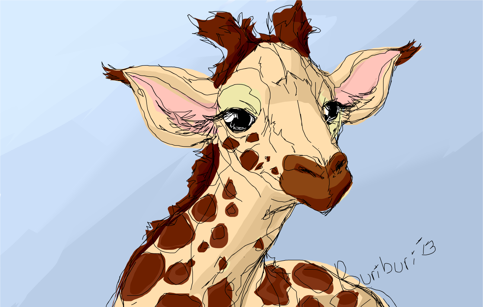 Sketch of a giraffe