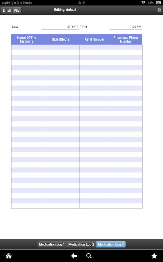 Search Results For Medication Sheet Template Calendar 2015