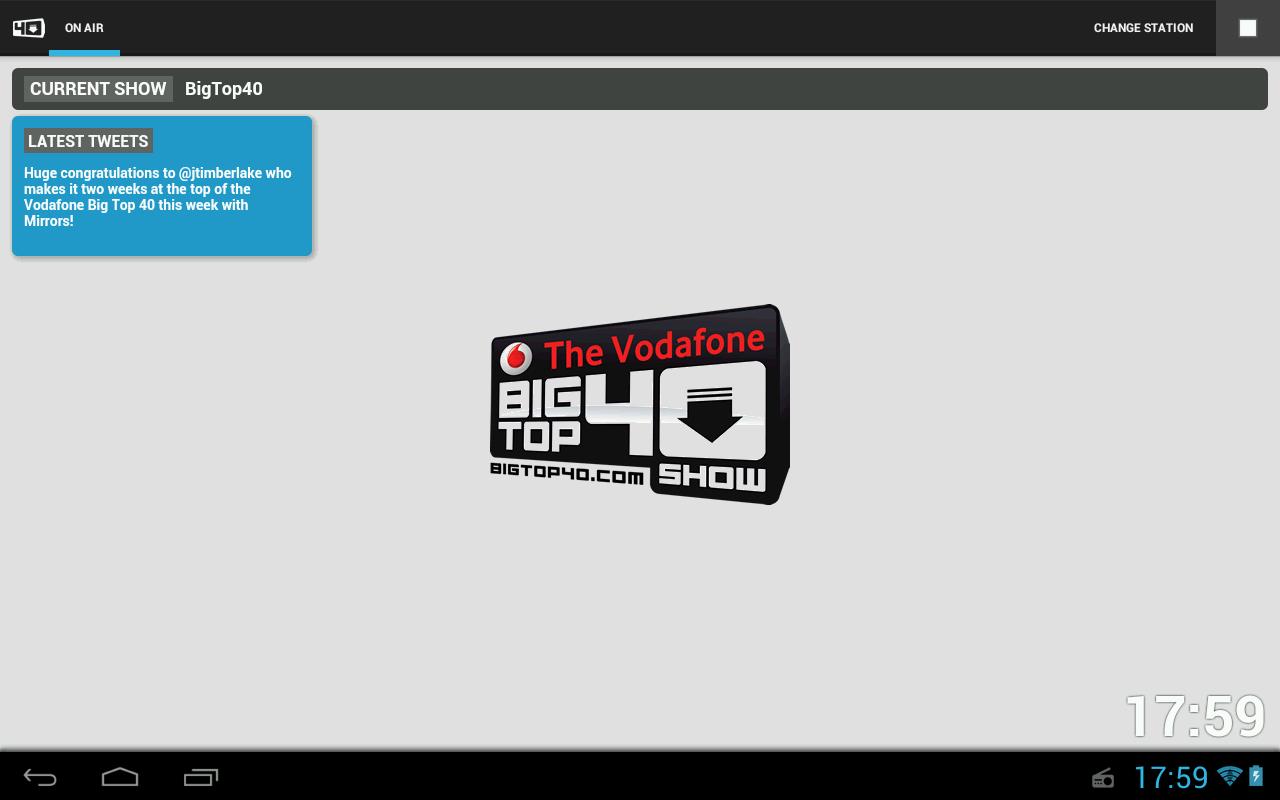 Big Top 40 Radio App - screenshot