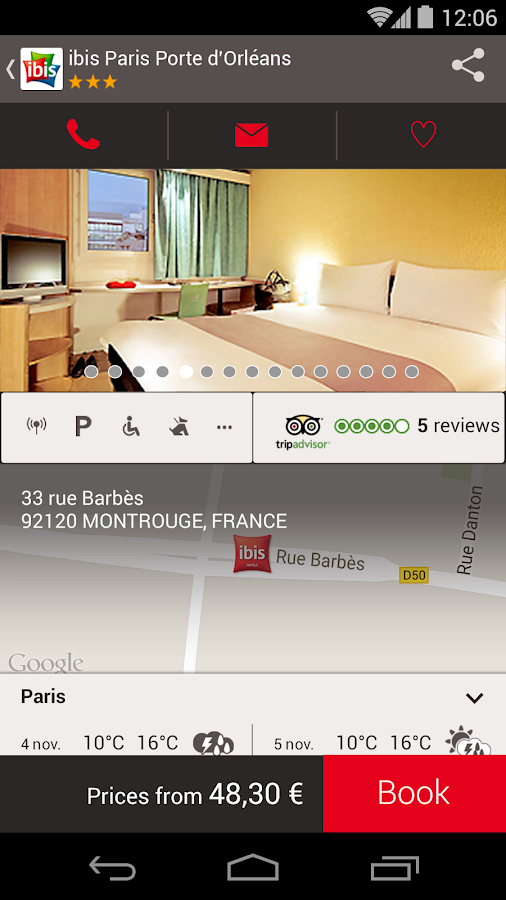 ibis hotel booking- screenshot