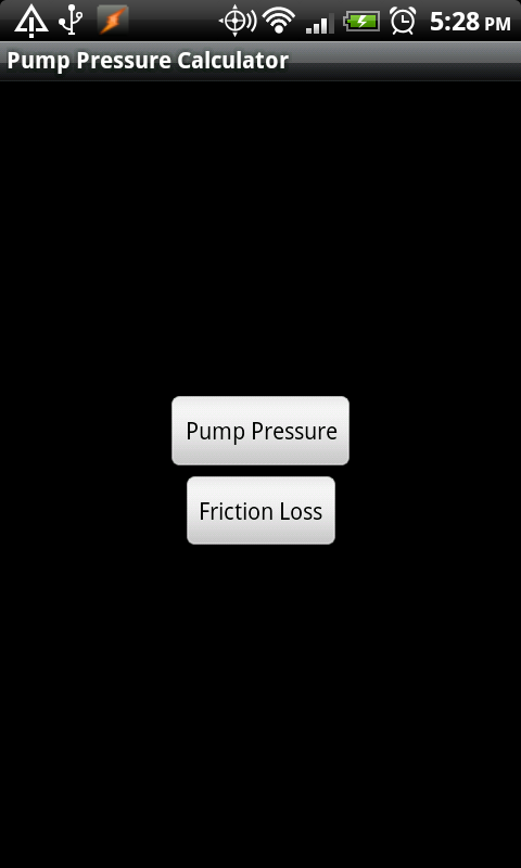 Pump Pressure Calculator - screenshot