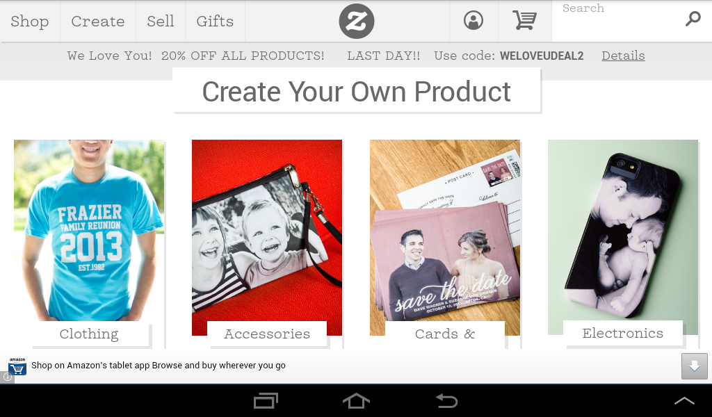 Zazzle - screenshot