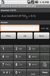 APACHE II Score Calculator - screenshot thumbnail