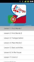 Screenshot of L-Lingo Learn Portuguese Pro
