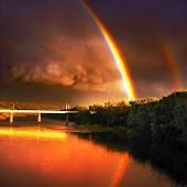 Colorful Rainbows Wallpaper