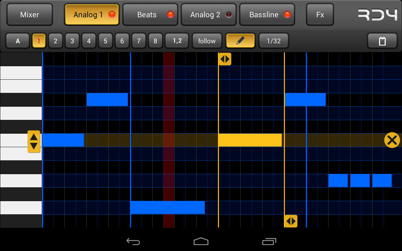 RD4 Groovebox – Screenshot