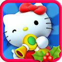 Hello Kitty Christmas logo