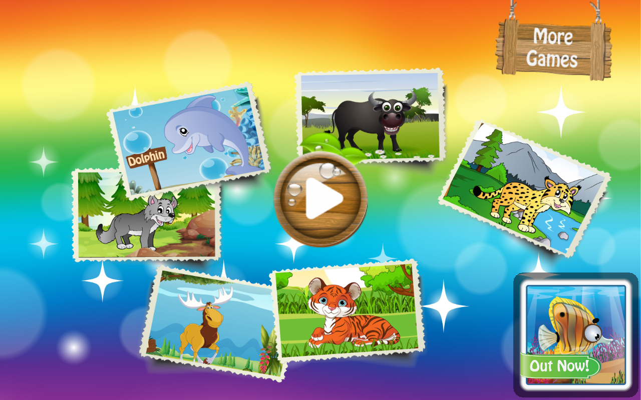 Kids Tiger & Animals Scratch - screenshot
