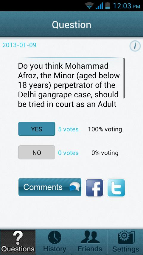 Poll App - screenshot