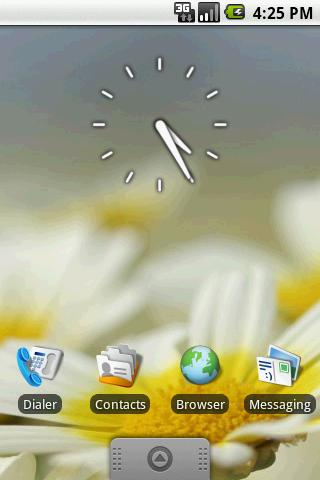 Transparent Clock Widget 2x2 - screenshot